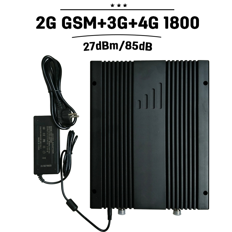 Mobile Signal Booster 2G 3G 4G GSM 900 WCDMA UMTS 2100 4G LTE 1800 Cellular Repetidor 27dBm Power  75dB Cellphone Amplifier 30