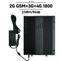 Mobile Signal Booster 2G 3G 4G GSM 900 WCDMA UMTS 2100 4G LTE 1800 Cellular Repetidor 27dBm Power  75dB Cellphone Amplifier 30