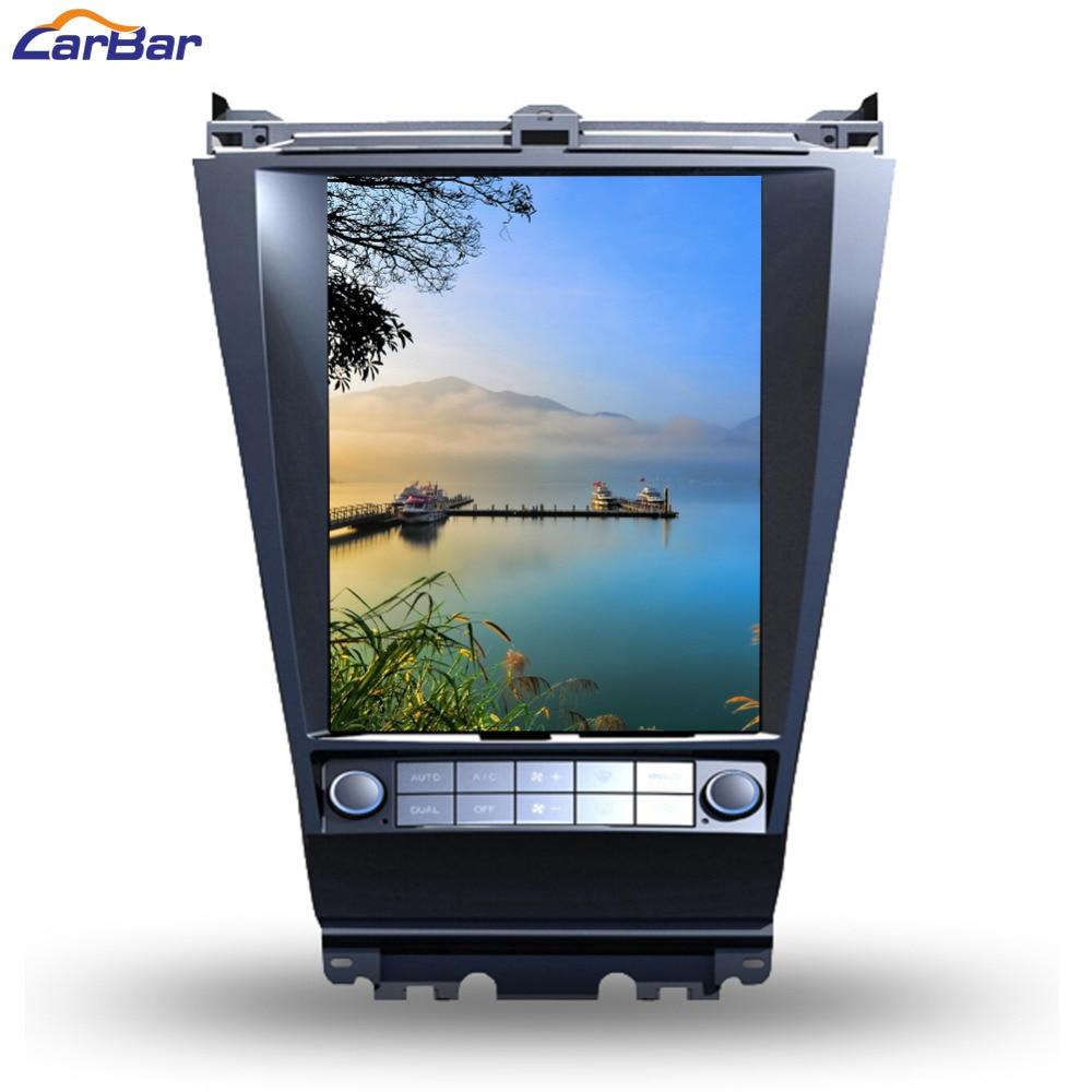 CARBAR 12,1 вертикальный огромный экран 768*1024 Android автомобильный DVD gps навигационный радио плеер для Honda Accord 7 2003-64G ROM 2007
