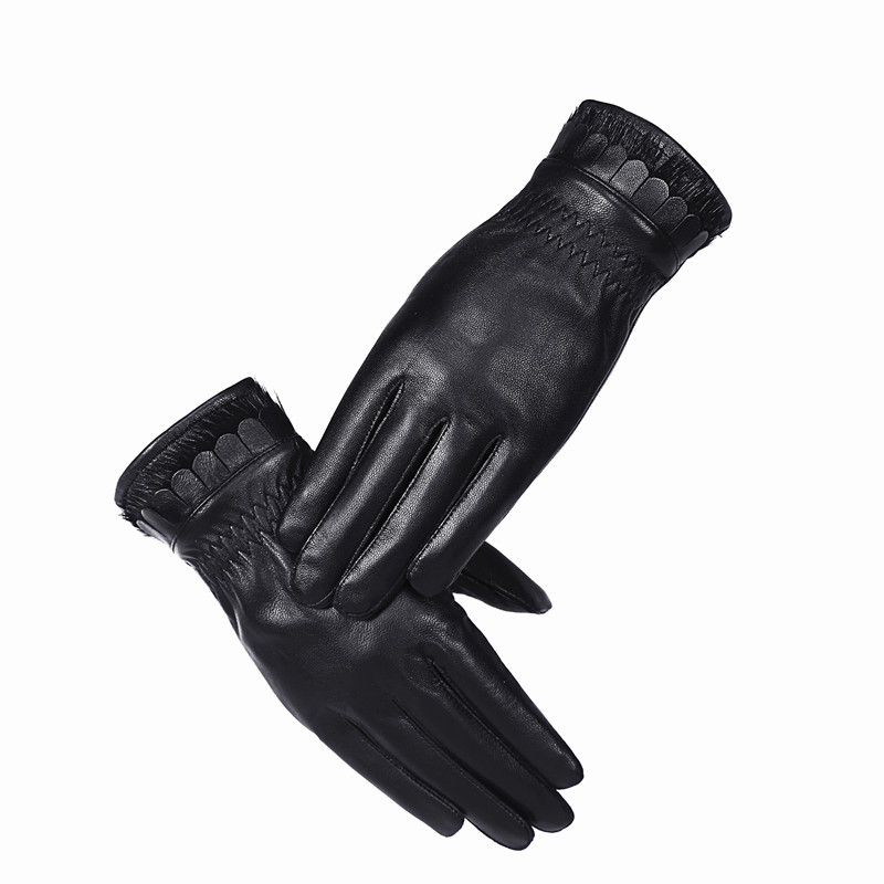 2017 Women Leather Gloves Genuine leathe