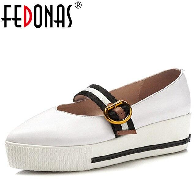 5d11c0d6 FEDONAS mujer zapatos de mujer mocasines Casual cuero genuino Mary Jane  zapatos mocasines zapatos madre calzado