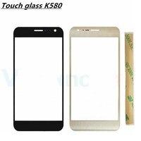 Per LG X Cam K580 Touch Screen Del Telefono Cellulare K580 Touchscreen del Pannello Frontale di Vetro Parti di Ricambio Con Logo