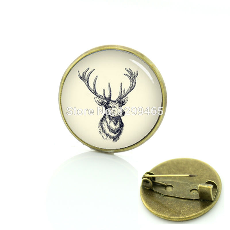 Jewelry Sets & More Elegant Charming Winter Style Deer Head Art Glass Pins Novelty Buck & Doe Brooches Animal Scorpion Frog Hippo Badge Jewelry T848 Jewelry & Accessories