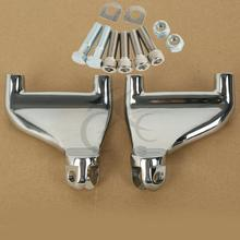 Motorcycle New Chrome/Black Rear Passenger Foot Peg Mount For Harley Sportster XL883 XL1200 04-13