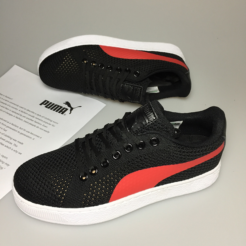 2018 Puma Breathable Men s Leather Sneakers Ferr-ari Shoes Red White Black brown  Badminton Shoes Ma am Black red size 36-39 b81b7ae5e