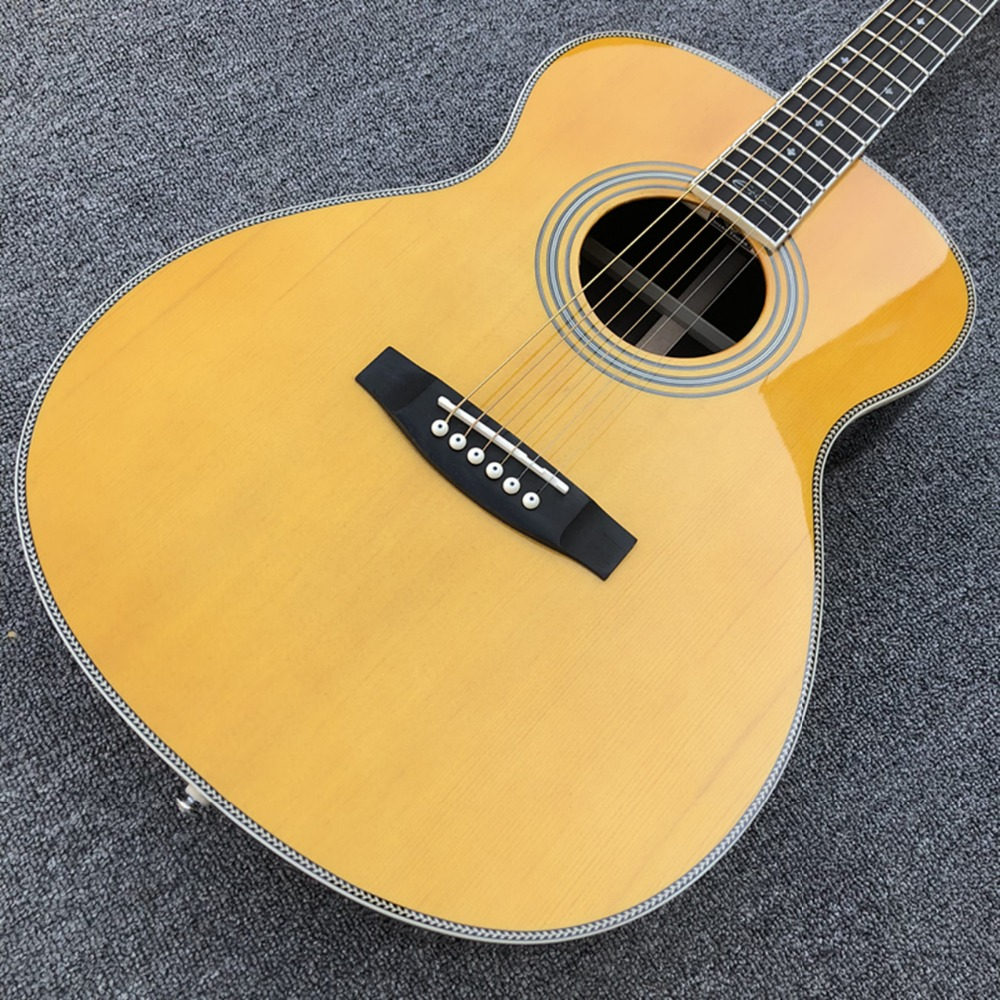 Factory Solid Spruce Top OM28 Acoustic Guitar 2019 New