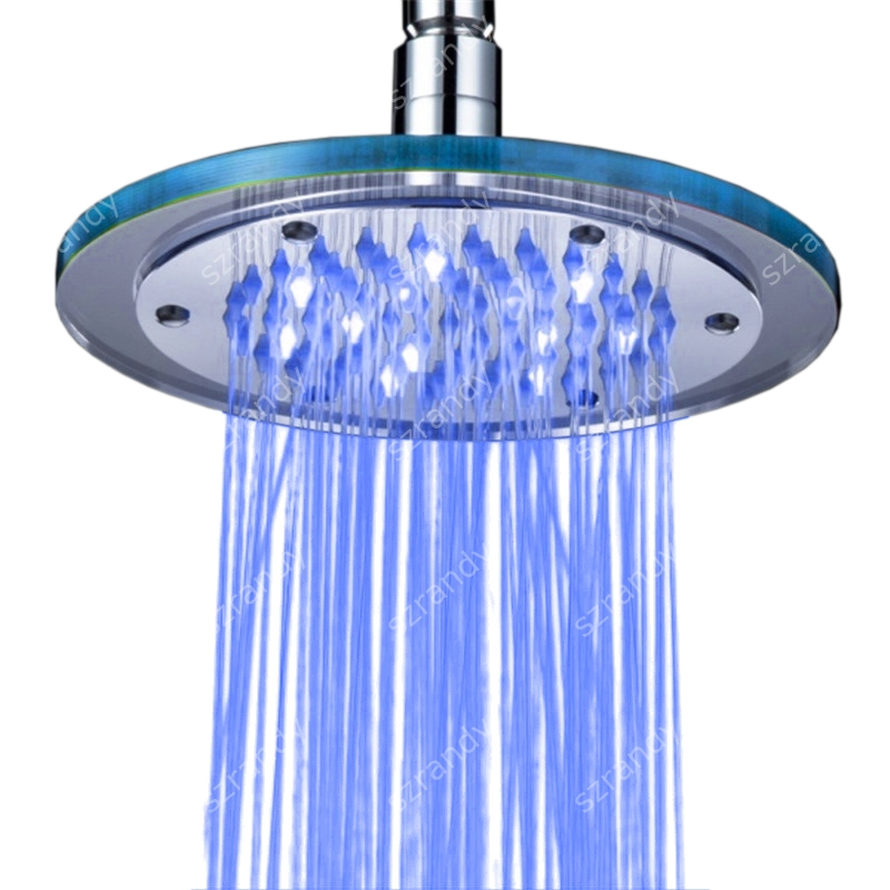 Bathroom Fixtures Home Improvement Cooperative Led Shower Head Color Changing Shower Head No Battery Bathroom Accessories Round Bathroom Showerhead Freeship