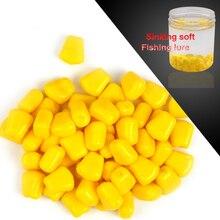 200pcs/lot 100g Artificial Corn Kernels Silicone Soft Lure Sink Leurre Souple Bream Trout soft bait For Sea Fishing