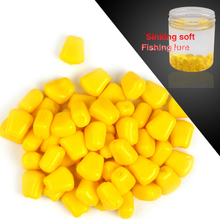 200pcs/lot 100g Synthetic Corn Kernels Silicone Smooth Lure Sink Leurre Souple Bream Trout gentle bait For Sea Fishing