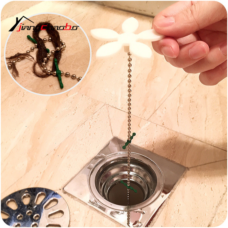 10 Pcs New Flower Shape Drain Dredge Pipe Sewer Cleaner Hook Iron Clogs Sink Plumbing Cleaning Small Tool Clean Hook