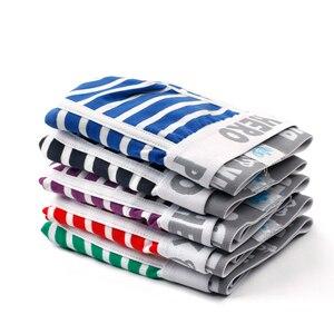 Image 2 - Yeni 5 adet/grup paketi pembe kahraman erkek Boxer iç çamaşırı pamuk şerit sıradan rahat elastik kemer erkek şort külot yüksek kalite