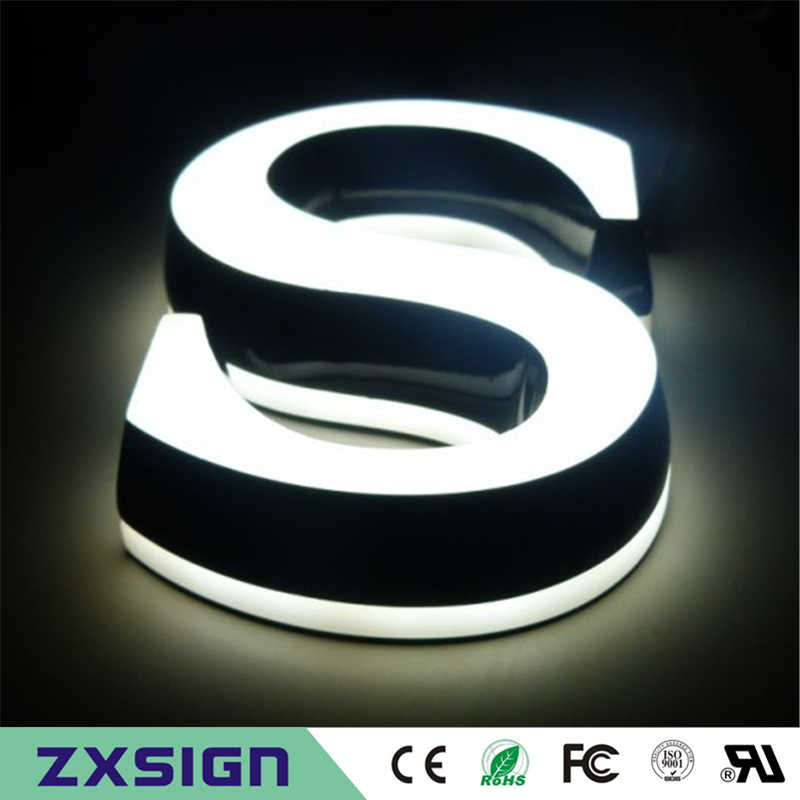 double sided lighted sign letters, acrylic led channel
