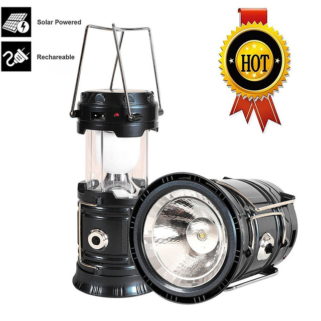 Solar LED Camping Lantern, Portable Outdoor Lantern Flashlight for Emergency,Hurricanes,Storm, Power Outage By ChenFec
