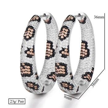 Leopard Hoop Cubic Zirconia Earrings
