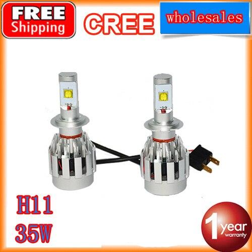 ФОТО LED Headlight kit car ledconversion kit H11 white led headlamp light led bulbs for car driving DC 12V 24V 4400LM free shipping