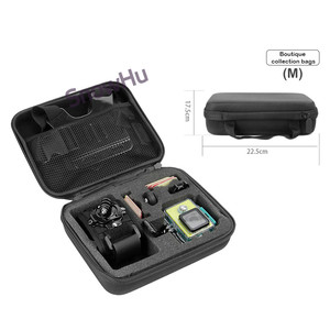 Image 5 - Snowhu Accessoires Draagbare Opslag Camera Grote Bag Case Voor Xiaomi Yi Action Camera Voor Go Pro Hero 9 8 7 6 5 4 3 SJ4000