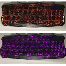 Purple/Blue/Red LED Breathing Backlight Pro Gaming Keyboard