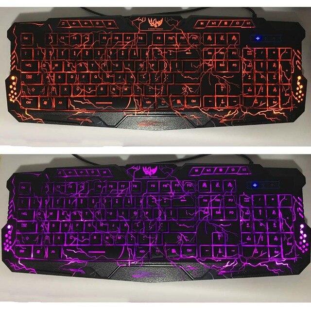 LED Breathing Backlight Pro Gaming Keyboard Mouse Combo