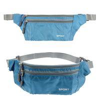 ISKYBOB 3 Layer Zipper Chest Bag Shoulder Waterproof Belt Bum Waist Pouch Zip Bag Fanny Pack Waist Packs