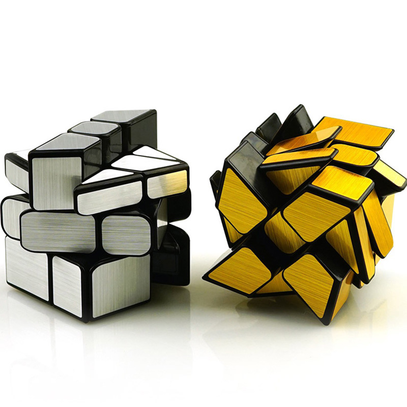 Rubik's Cube 3 x 3 x 3 Puzzle Cube Mirror Wheels puzzles toys Sticker Adult Children's Educational Toy cubo toys for children enlightenment educational cube children toy