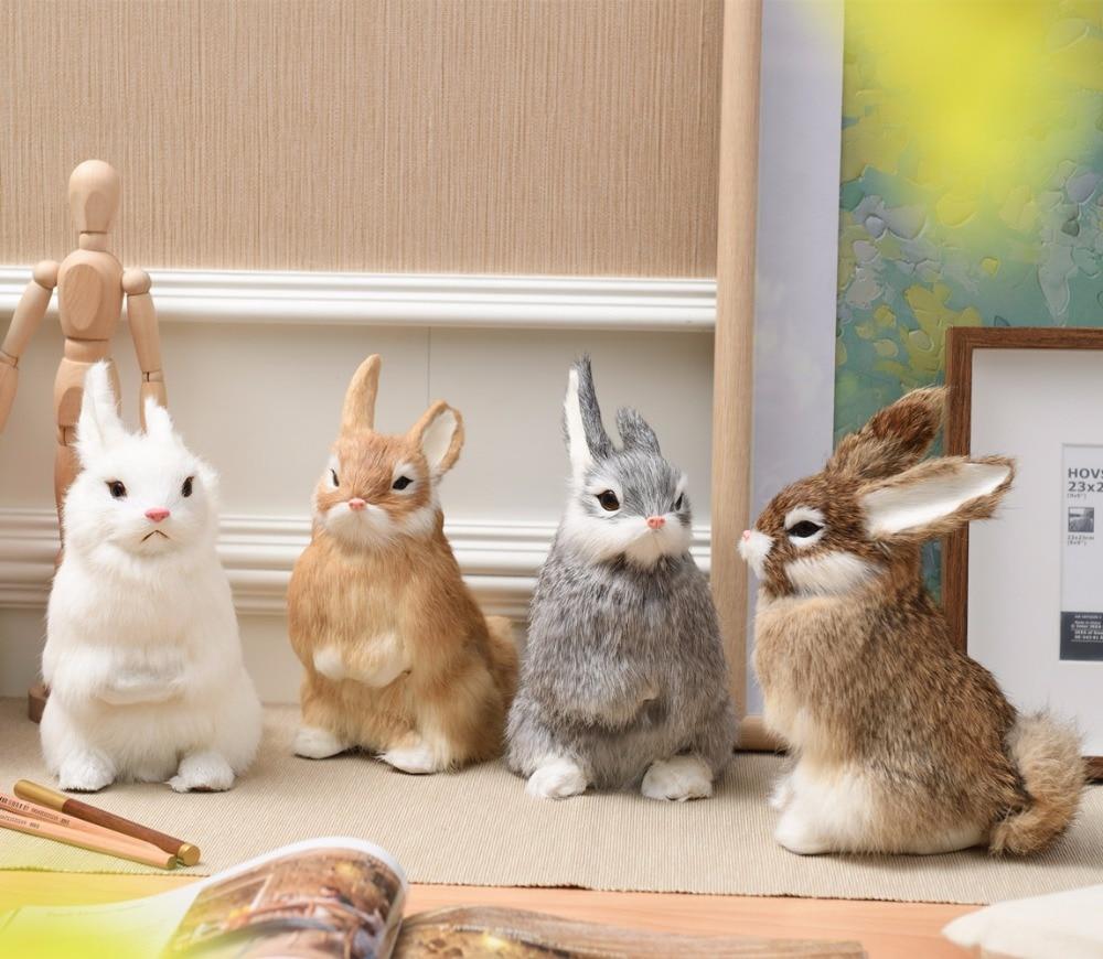 ZILIN krásný simulovaný králík ručně vyrobený roztomilý zajíček Velikonoční králík 4 barvy pro volbu 16 * 22 cm