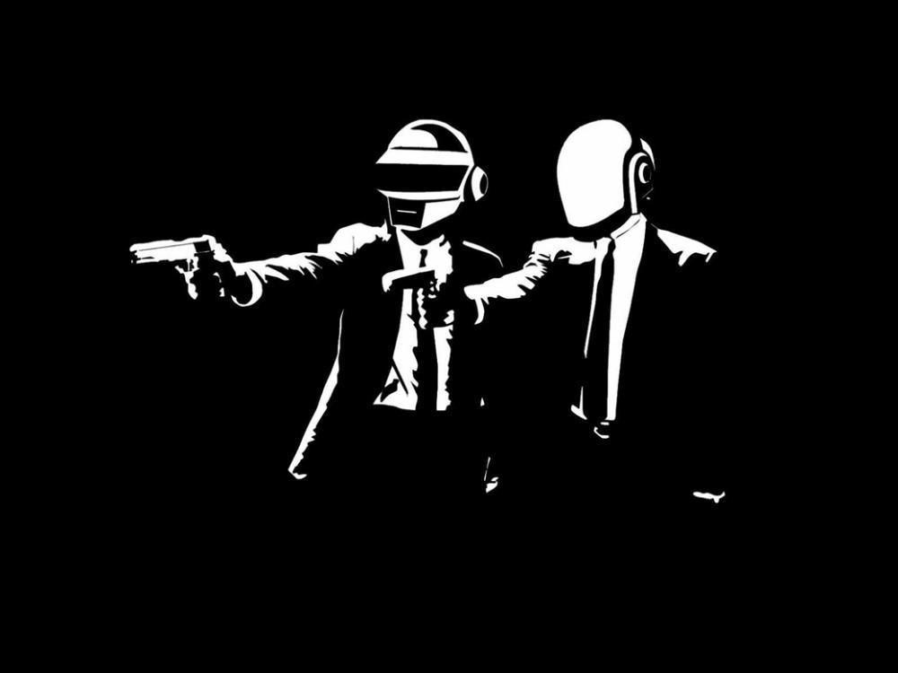 81286 Daft Punk Music Band Group Wall Print POSTER Affiche
