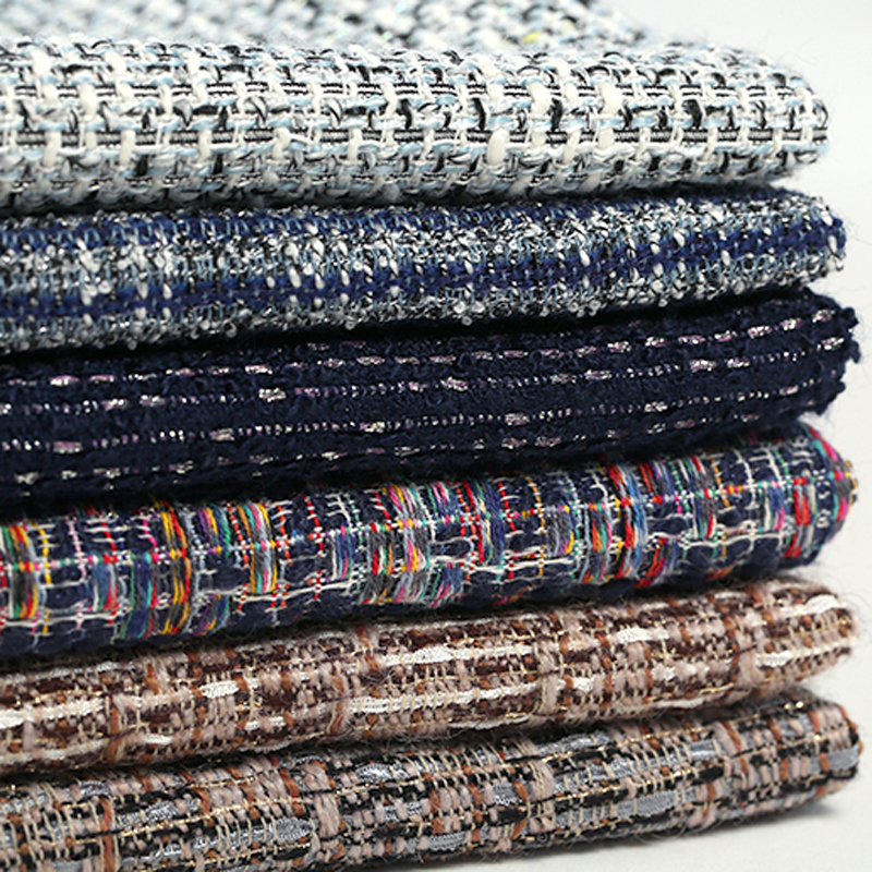 145CM Wide 360 450G M Weight Dark Color Soft Knitted Tweed Acrylic Polyester Fabric for Autumn
