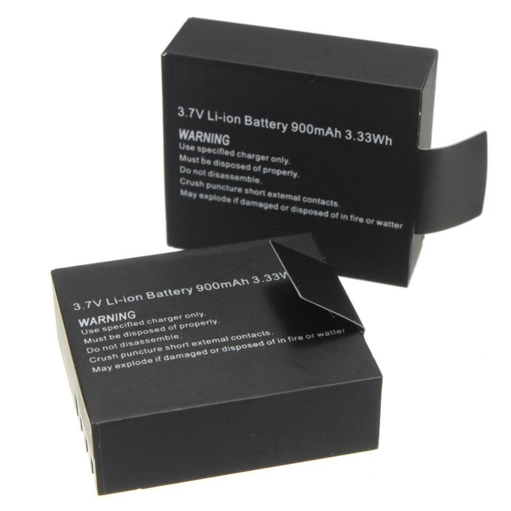 Heißer Verkauf 2 stücke 900 mah Sport Kamera Li-Ion Batterie Für SJCAM SJ4000 SJ5000 SJ6000 SJ7000 Sport DV Mini Kamera batterie Batteria