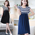 100% Cotton 2017 Summer Maternity Dress for Pregnant Women Fashion Striped Casual Maternity Dresses Clothes for Pregnant Women