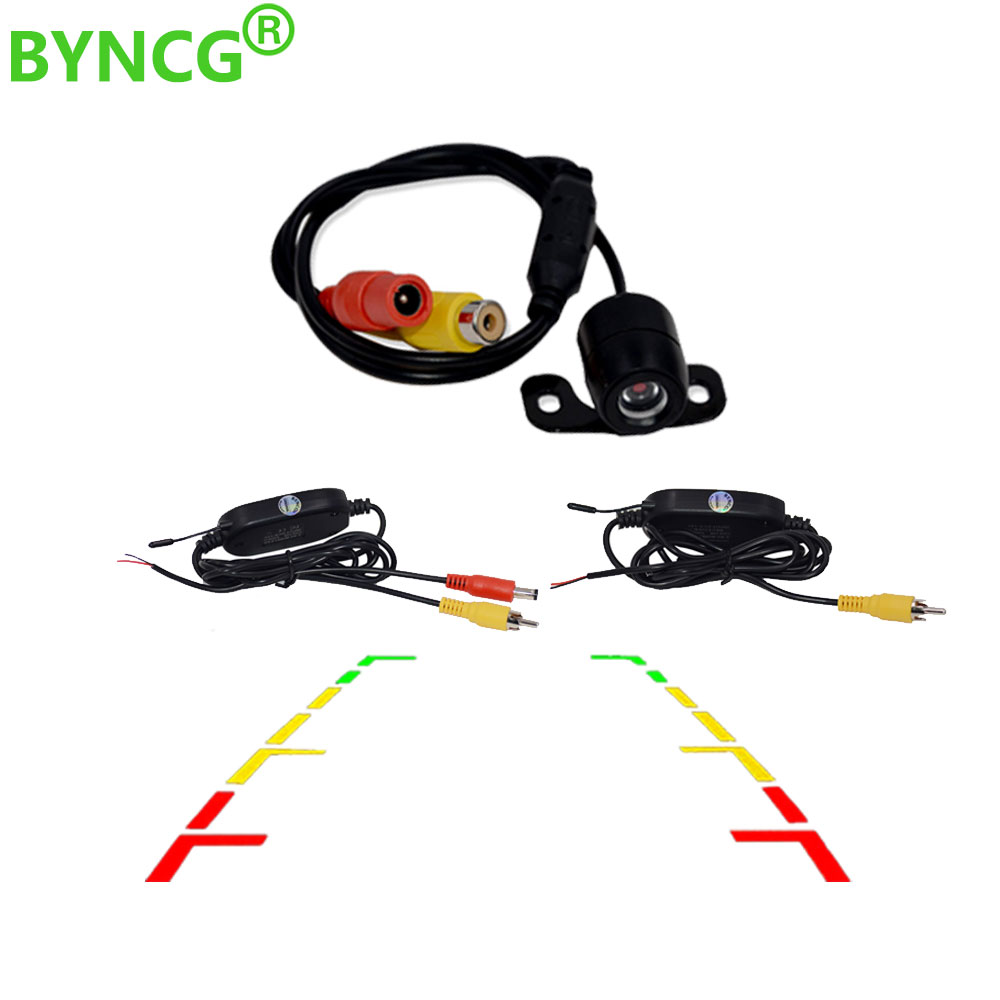 BYNCG Auto CCD HD Car Backup Wireless Rear View Camera Rear Monitor Parking Assistance Waterproof Camera Reverse View Camera