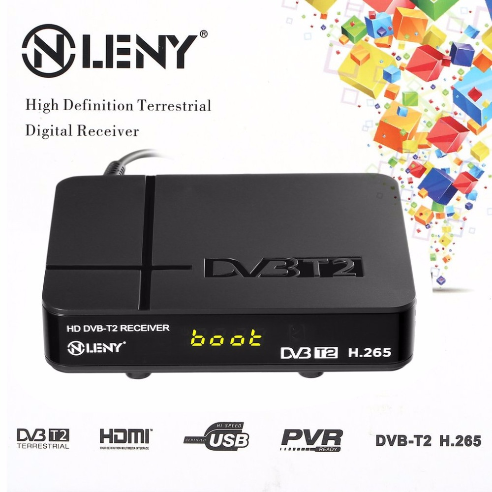 ONLENY Black High Definition Digital Terrestrial HDMI 1080P DVB-T/T2 Protocol H.265 TV Box VGA AV Tuner Receiver car dvb t2 digital tv receiver double tuner usb hdmi for russia thailand columbia indonesia singapore speed up to 160 180km h