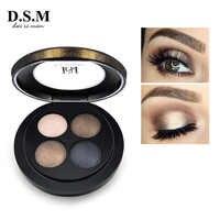 D.S.M Marke Neue Mineralisieren Lidschatten 4 Farben Wasserdicht Lidschatten Make-Up Metallic Leucht Make-Up Shades Lidschatten Pallete