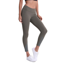 Femmes sport serré gym poche zippée 7/8 pantalon contrôle du ventre leggings de course réfléchissants non voir à travers le tissu pantalon extensible 4 voies