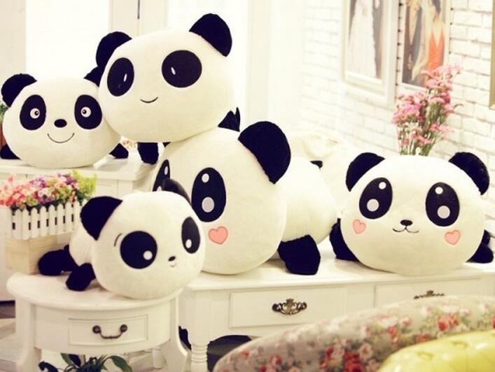 20 cm Panda mainan mewah 6 gaya lucu boneka lembut bantal Ulang tahun hadiah natal untuk
