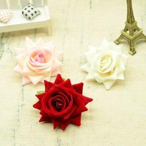 Image 3 - 100 adet kaliteli yapay çiçekler için noel ev dekorasyonu düğün gelin aksesuarları diy çelenk hediyeler bir kap ipek güller