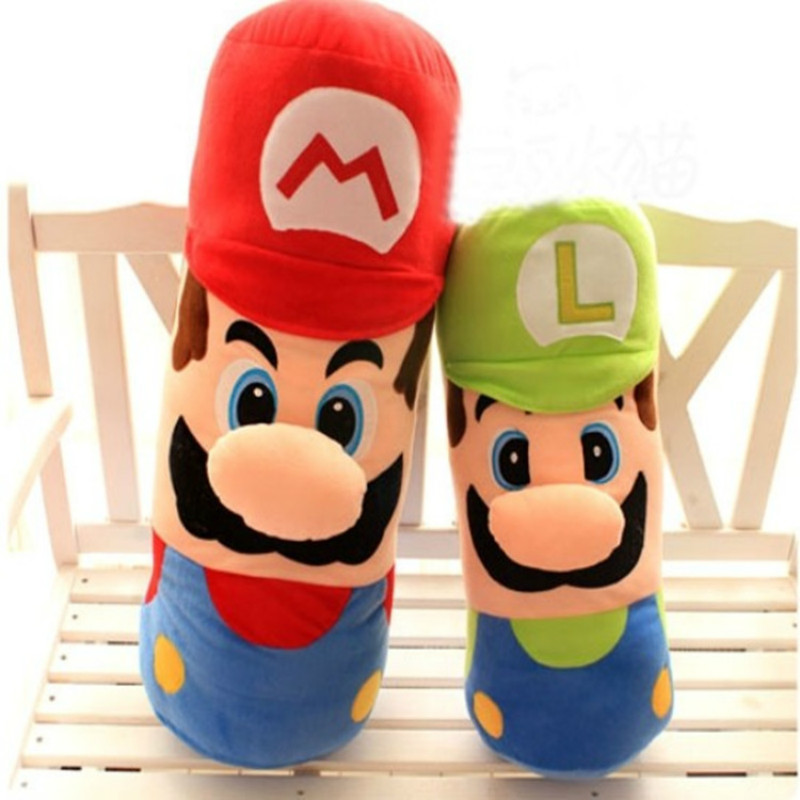 Super Marie Bros Cute Mario Plush Toy Doll Pillow Cushion 50cm Red or Green Color