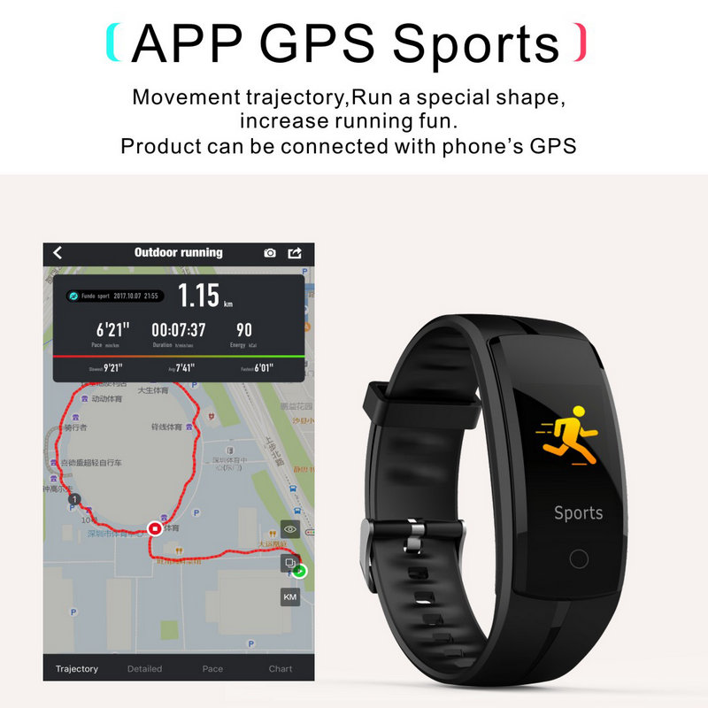 Smart Bracelet Sport Band Lover Watch Smartband Heart Rate Blood Pressure Monitor Fitness Activity Tracker Android IOS Bracelet