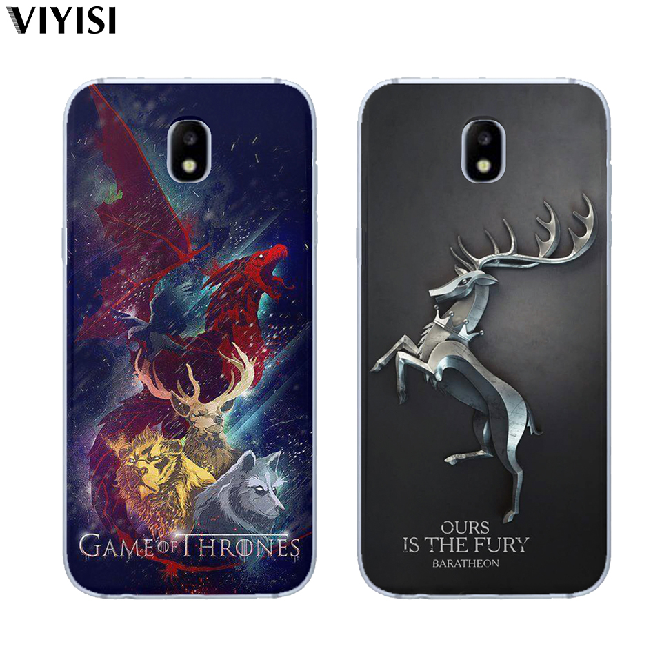 Case For Samsung Galaxy s8 S9 Plus S6 S7 Edge S10 Note 8 9 Game Thrones Daenerys Dragon Jon Snow Tyrion Lannister Silicone Cover in Fitted Cases from Cellphones Telecommunications