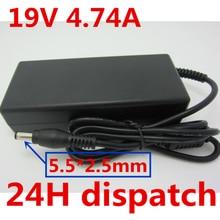 HSW 19V 4.74A AC DC Питание адаптер Зарядное устройство для ASUS F81SE F9 X80N F8Tr X81SE F3 ADP-90SB BB PA-1900-24 36 K50 K52 K51 K40A