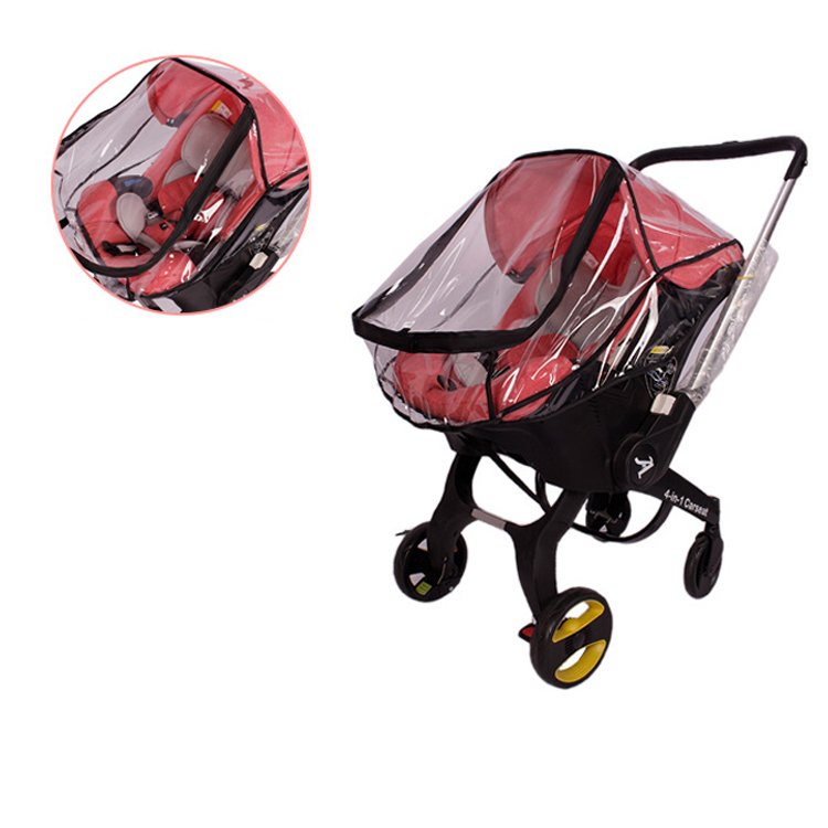 Baby Strolle Accessorie Rain Cover of High View Pram fit foofoo stroller baby carseat cover in Strollers Accessories from Mother Kids