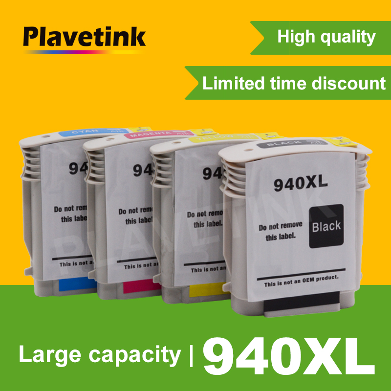 Plavetink <font><b>940XL</b></font> Ink Cartridge Replacement for HP <font><b>940XL</b></font> 940 XL For HP940 OfficeJet Pro 8000 8500a 8500 Printer Full ink with Chip image