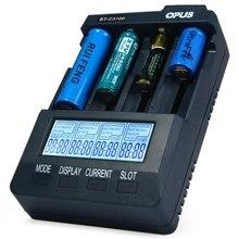Original Opus BT-C3100 V2.2 Smart Digital inteligente 4 LCD ranuras cargador de batería Universal para batería recargable de la ue / ee.uu. Plug