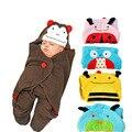 78X78 cm cochecito de Bebé mantas de bebé bebé saco de dormir saco de dormir de la historieta Toalla animal encantador 4 colores