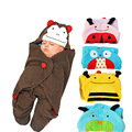 78X78cm Baby stroller baby blankets baby sleeping bag cartoon sleeping bag Towel lovely animal 4 colors