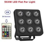 Newest Led Show Panel Flat Par Light 9X4W RGBW RGBUV 4IN1 DMX Stage Effect Lights Business