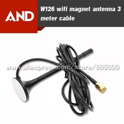 imágenes para Envío Libre 2.4 Ghz WIFI Antena imán, RG174 Cable de 3 metro