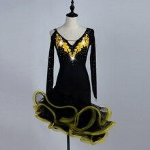 Vestido de baile latino para mujer de baile latino trajes para mujeres samba tango vestido de baile Latina vestidos para niñas de la competencia