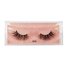 SHIDISHANGPIN  1 pairs false eyelashes natural long hand made lashes 3D mink makeup box