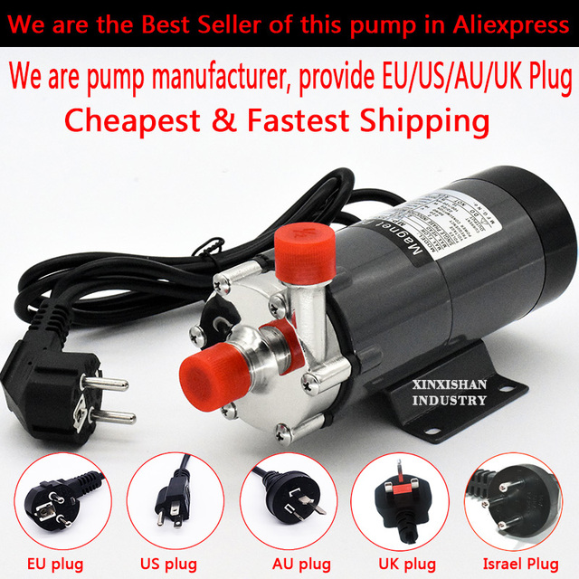 """HomeBrew Pump MP-15R Food Grade 304 Stainless Steel Brewing Home brew 220V Magnetic Water Pump Temperature 140C 1/2"""" BSP/NPT"""