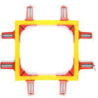 Promotion 4pcs 75mm Mitre Corner Clamps Picture Frame Holder Woodwork Right Angle Red